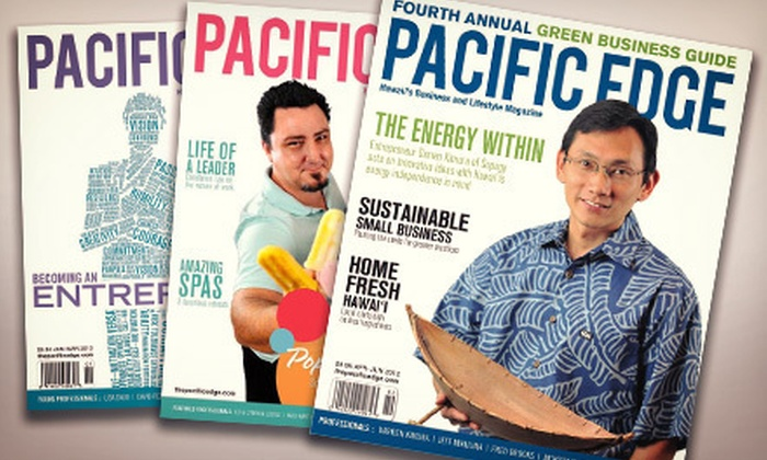"""Pacific Edge Magazine: One- or Two-Year Subscription to """"Pacific Edge Magazine"""" (Up to 53% Off)"""