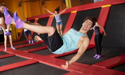 One-Hour Indoor Trampoline Session for Two at Jumping World Bryan (Up to 50% Off)
