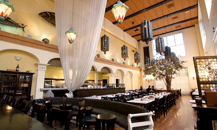 Thea Mediterranean - Santana Row: Turkish and Greek Meal with Wine for Two or Four at Thea Mediterranean (Up to 30% Off)
