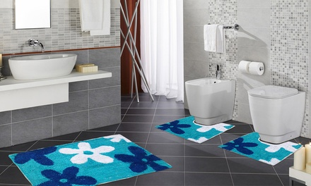 Set di 3 tappetini per bagno groupon goods for Groupon mobili bagno