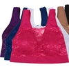6-Pack of Lace-Overlay Bras