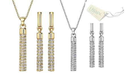 One (AED 99) or Two (AED 179) Swarovski Elements Bar Necklace and Earrings Sets With Free Delivery
