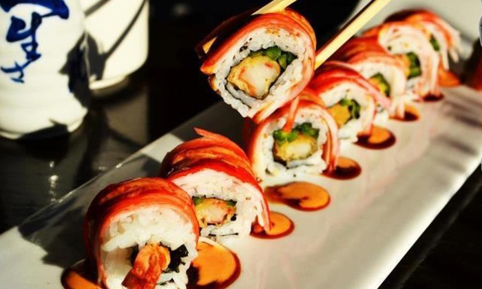 Rock Wrap & Roll - DePaul: Sushi and Japanese and Thai Food for Two or Four at Rock Wrap & Roll (Up to 50% Off)