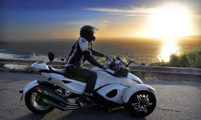 Spyder-Rentals.com - Alameda: $50 Toward Can-Am Spyder Rentals