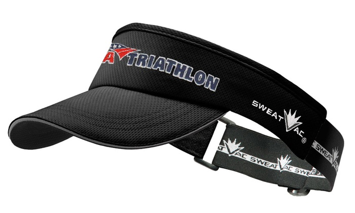 SweatVac Performance Wear - North Center: USA Triathlon Race Visor in Red, Black, or Yellow with In-Store Pickup at SweatVac Performance Wear (37% Off)