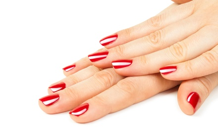 Shellac Manicure or One or Two Mani-Pedis at Glamour Nails (Up to 46% Off)