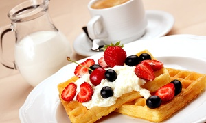 Sugar Rush Desserts: Waffle or Crepe with Hot Drink for Up to Six at Sugar Rush Desserts (Up to 55% Off)