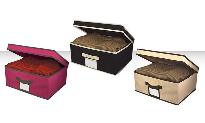 Fabric Storage Box With Lid
