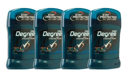 4-Pack of Degree Deodorant
