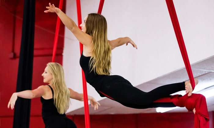 Four Elements Aerial & Creative Movement - Four Elements Yoga & Fitness Downtown: Aerial and Pole Dancing Classes, or Pole Dance Party at Four Elements Aerial & Creative Movement (50% Off)