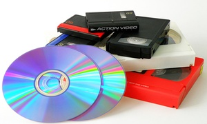 Action Video Service: One or Two Videotape-to-DVD Transfers at Action Video Service (52% Off)
