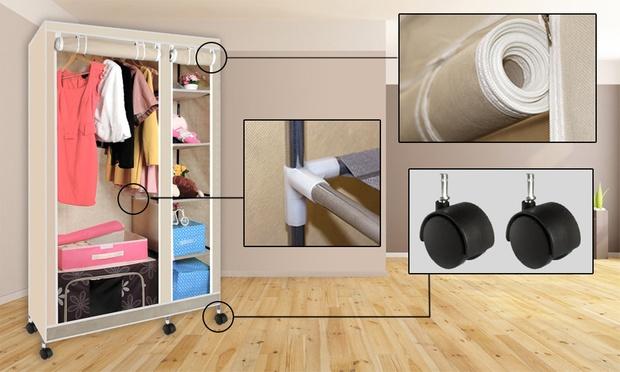 Canvas Storage Wardrobe Groupon Goods