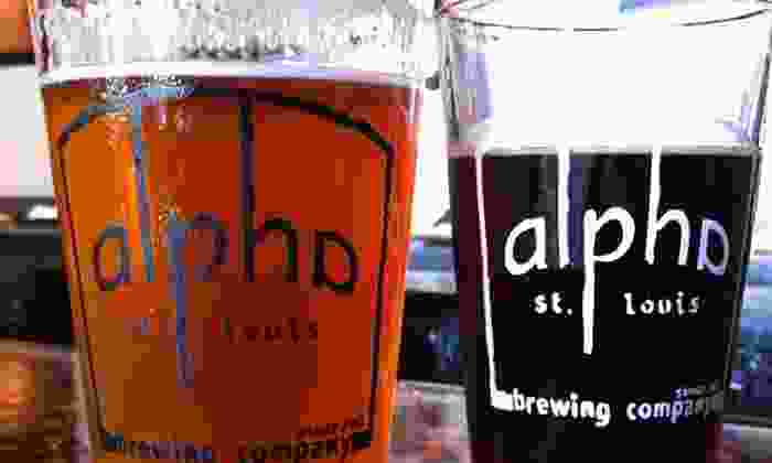 Alpha Brewing Company - Downtown St. Louis: Beer-Flight Tastings for Two or Beer Tastings for Four at Alpha Brewing Company (Up to 50% Off)