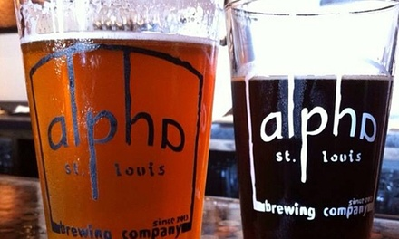 Beer-Flight Tastings for Two or Beer Tastings for Four at Alpha Brewing Company (Up to 50% Off)
