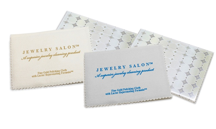 Jewelry Salon Gold or Sterling Silver Jewelry Cleaning Cloths. Multiple Options Available. Free Returns Deals for only $9 instead of $10