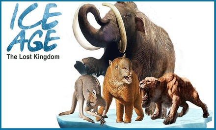 Ice Age The Lost Kingdom, 11 26 April at Birmingham Botanical Gardens