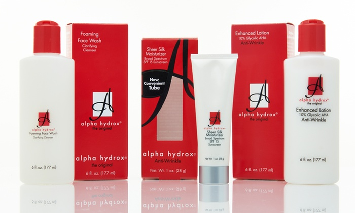 Alpha Hydrox Wrinkle-Defense Kit: $19.99 for an Alpha Hydrox Wrinkle-Defense Kit ($38.97 List Price). Free Shipping.