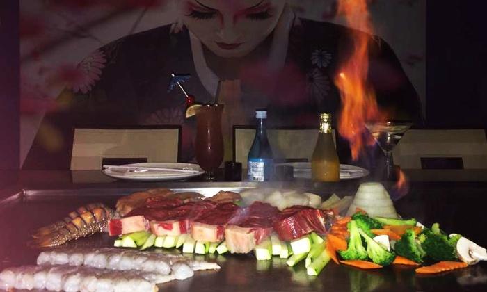 Mizu Japanese Sushi & Hibachi - Plainedge: Sushi or Hibachi Cuisine at Mizu Japanese Sushi & Hibachi (Up to 54% Off). Three Options Available.
