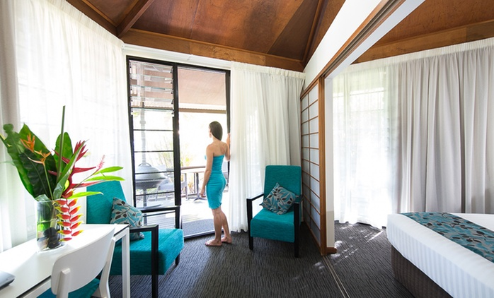Darwin: One, Two or Three-Night Top End Resort Stay with Late Checkout for Two People at Palms City Resort