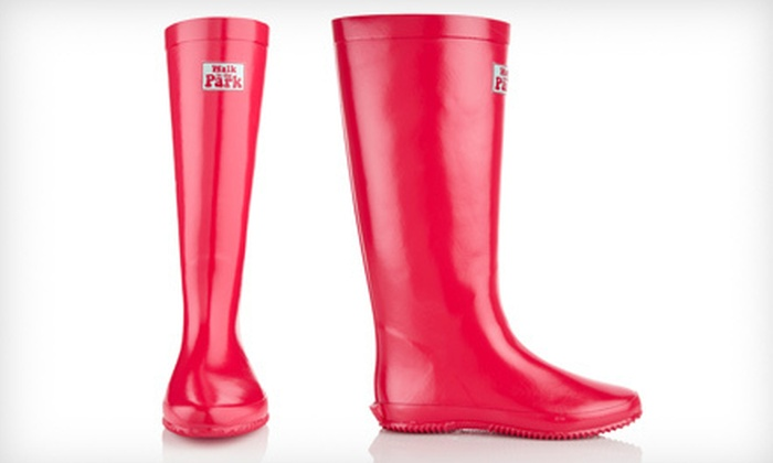 Redfoot Foldable Rain Boots: $34 for Redfoot Walk in the Park Festival Rain Boots in Coral ($99 List Price). Six Sizes Available.