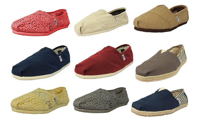 Toms Canvas Shoes Groupon