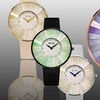 So & Co New York Women's Mother-of-Pearl Satin-Covered Watch