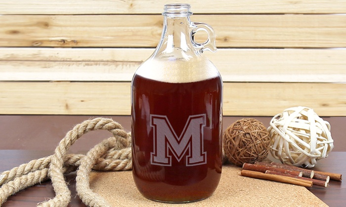 Monogram Online: $19.99 for a Personalized Beer Growler from Monogram Online ($50.99 Value)