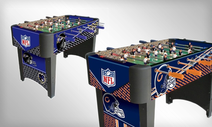 NFL Imperial Foosball Tables: NFL-Themed Imperial Foosball Table (Up to 42% Off). Multiple Options Available. Free Shipping.