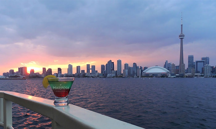 Mariposa Cruises - Toronto Waterfront: Two-Hour Sip & Sail Cruise for One or Two from Mariposa Cruises (25% Off)