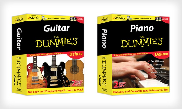 Guitar or Piano For Dummies Deluxe: eMedia Guitar or Piano For Dummies Deluxe. Free Returns.