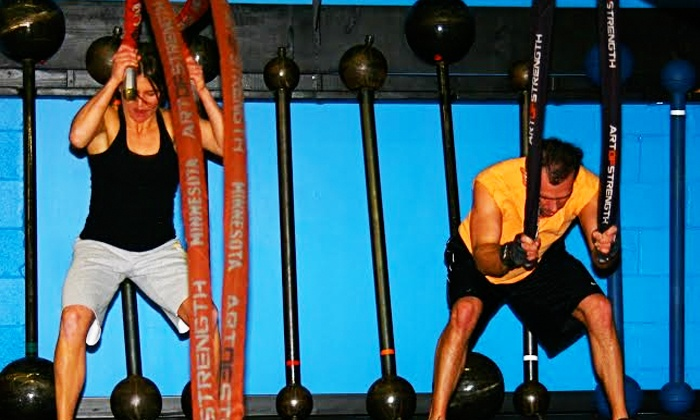 Art of Strength - Edina: 10 or 20 Kettlebell and Rope Classes or 12 High-Intensity Fitness Sessions  at Art of Strength (Up to 85% Off)