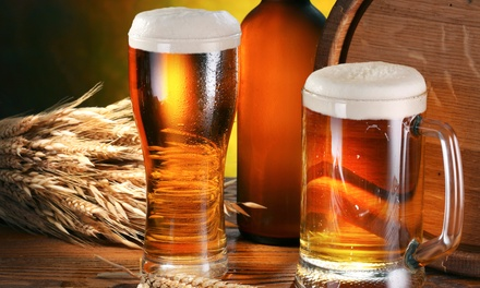 Beer Flights, Pint Glasses, and Coozies for Two or Four at Lonerider Brewing Company (47% Off)