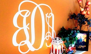 LilyDeal: $19.99 for a Vinyl Wall Monogram from LilyDeal ($41.99 Value)