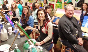 Wine and Design: Two-Hour BYOB/W Painting Class for One at Wine and Design (Up to 46% Off). Two Options Available.