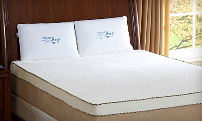 Nature's Sleep: 8- or 12-Inch Visco Memory-Foam Mattress from Nature's Sleep (Up to 74% Off). Seven Options Available.