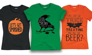 Women's Halloween Humorous T-Shirts: Women's Halloween Humorous T-Shirts