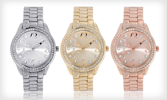 Jules and James Watch and Bracelet Set: $19 for a Jules and James Women's Singles Watch and Bracelet ($49.99 List Price). Four Styles Available. Free Returns.