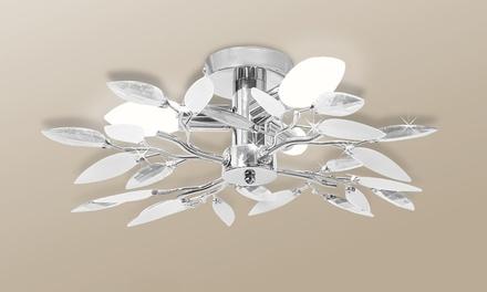 Lámpara de techo con hojas de cristal acrílico