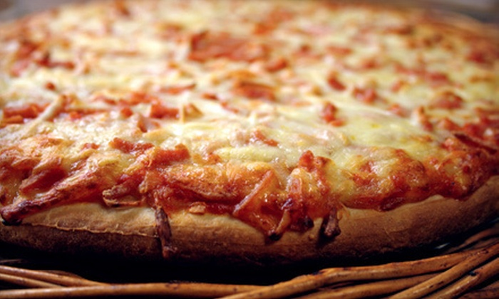 Crazy Tomato - Multiple Locations: Meal with Two Large One-Topping Pizzas and Old Bay Fries or $10 for $20 Worth of Italian Fare at Crazy Tomato in York