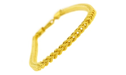 14K Gold Men's Franco Link Bracelet