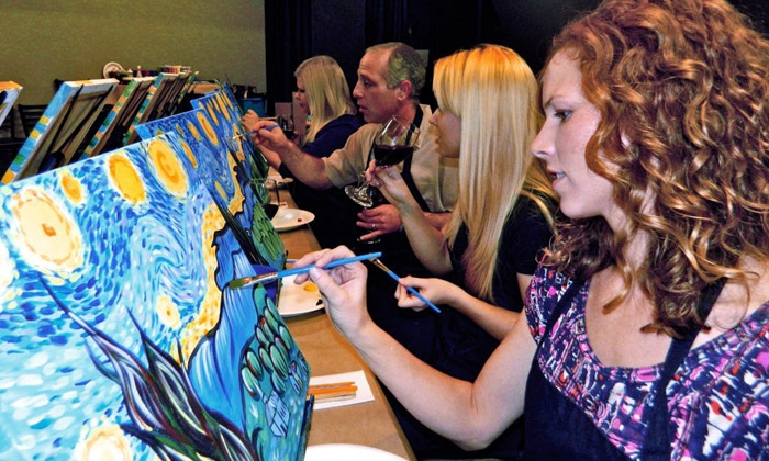 Art Social - Ganzer Estates: Three-Hour Painting Class for One, Two, or Four at a Local Bar or Restaurant from Art Social (Up to 53% Off)