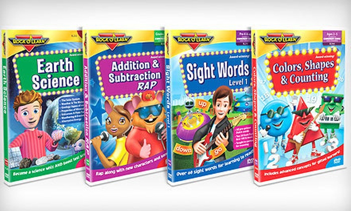 Rock 'N Learn: Educational DVDs and CDs from Rock 'N Learn (Up to 64% Off). Two Options Available.