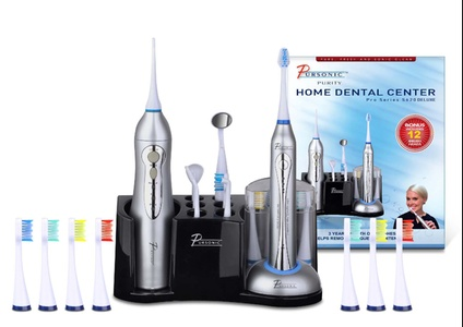 20-Piece Deluxe Sonic Toothbrush and Oral Irrigator Combo Set