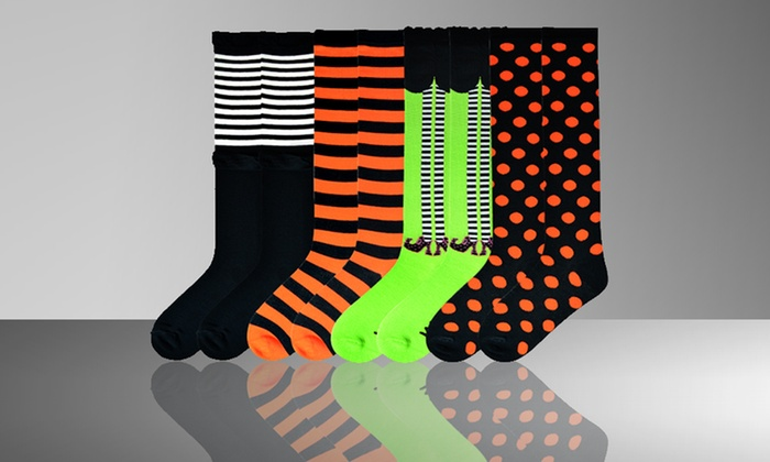 4-Pack of K. Bell Halloween Crew or Knee-High Socks: 4-Pack of K. Bell Halloween Crew or Knee-High Socks. Multiple Styles Available.