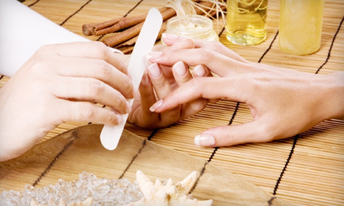The Pink Nail Spa - Multiple Locations: $39 for Two Mani-Pedis at The Pink Nail Spa (Up to $78 Value). Three Locations Available.
