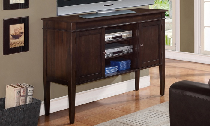 Carlton Tall TV Stand with Storage. Carlton Tall TV Stand   Groupon Goods