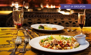 Shaka Zulu: Three-Course Meal With Champagne Cocktail from £24.50 at Shaka Zulu, Camden Lock (Up to 64% Off)
