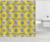 Floral Lawson Canvas Shower Curtain: Floral Lawson Canvas Shower Curtain in Pink or Yellow. Free Returns.