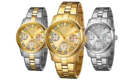 JBW Alessandra Women's Stainless Steel Diamond Bracelet Watch