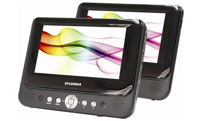 Sylvania 7 Dual Screen Portable DVD Player (Manufacturer Refurbished)